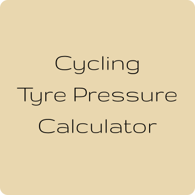 Tyre pressure calculator